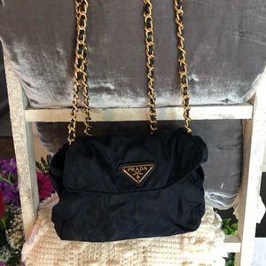 Vintage Prada Navy Blue Chain Bag